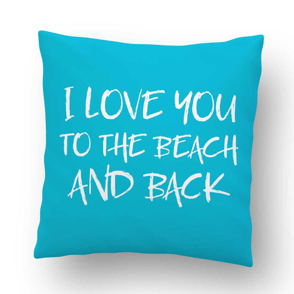 Love You To The Beach Indoor Throw Pillow Cover