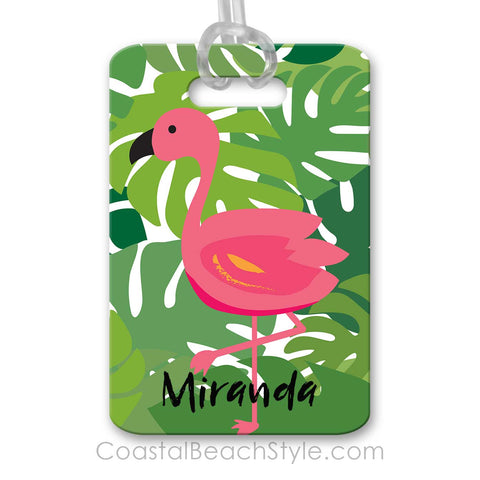 Tropical Flamingo Luggage Bag Tag