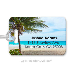 Personalized Beach Luggage Bag Tag