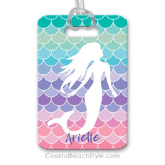 Mermaid Scales Beach Luggage Tag