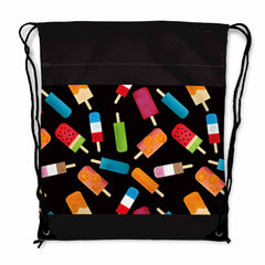 Summer Popsicles Drawstring Bag