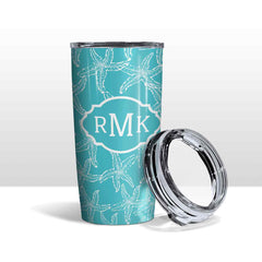 Starfish Monogram Tumbler Teal 20 ounce