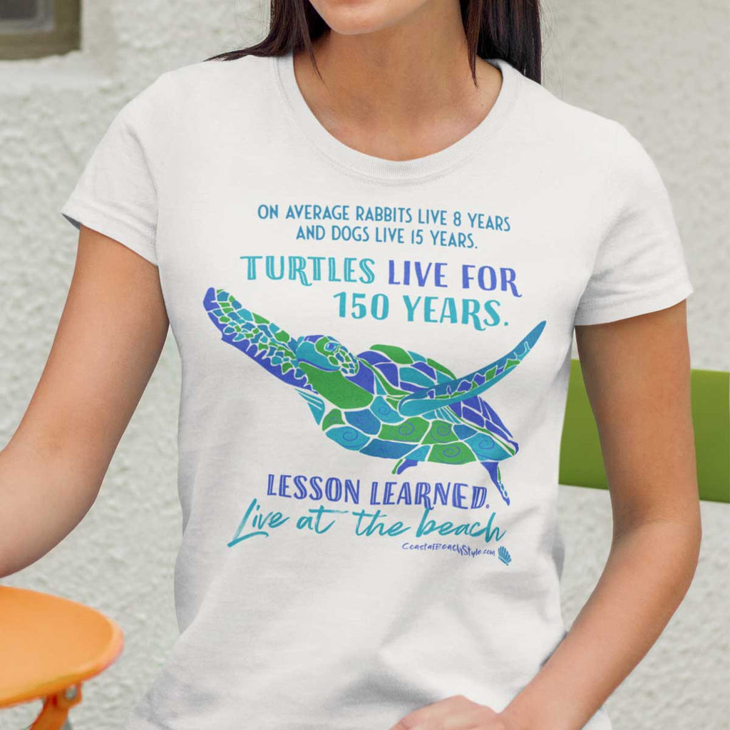 Live Like A Sea Turtle Beach Shirt