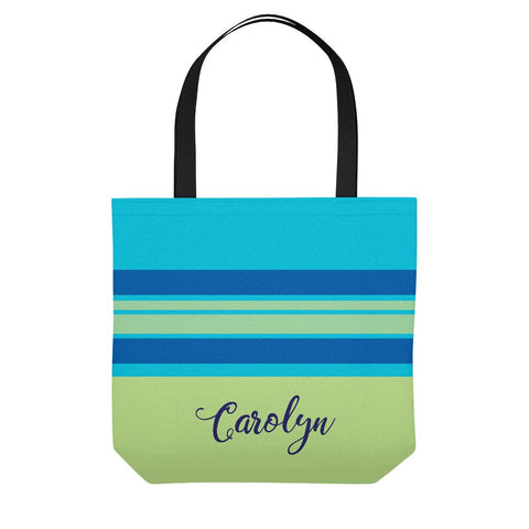 Calypso Stripe Personalized Beach Tote