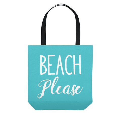 Teal Beach Please Tote Bag