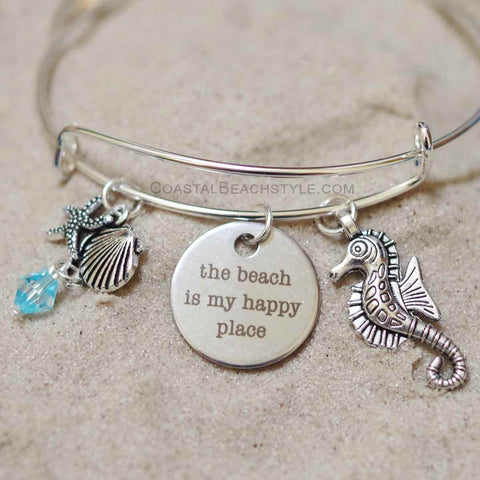 The Beach Is My Happy Place Bracelet