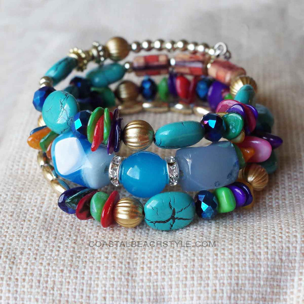 bracelets il seed listing for beach boho bracelet jewelry gift fullxfull vacation style sea turtle bead stack