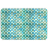 Mermaid Scales Beach Bath Floor Mat