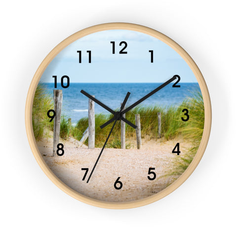 Coastal Seagrass Wall Clock