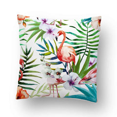 Flamingo Foliage Indoor Throw Pillow Cover