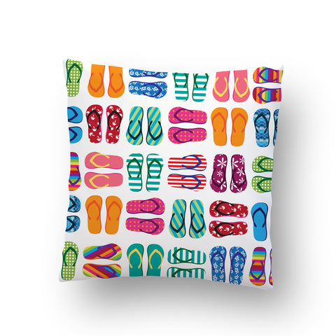 Flip Flops Outdoor Throw Pillow