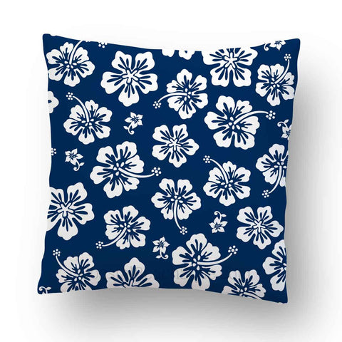 Hibiscus Outdoor Throw Pillow