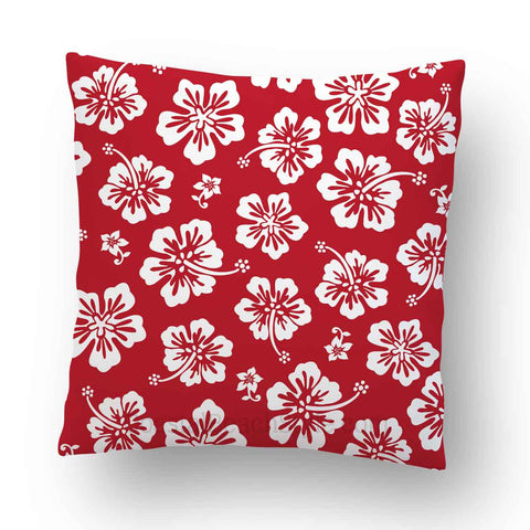 Hibiscus Flowers Tropical Outdoor Throw Pillow