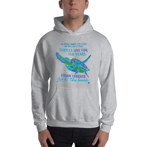 Sea Turtle Advice Beach Ocean Hooded Sweatshirt Birthday Holiday Christmas Gift