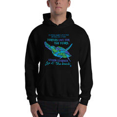Advice from a Sea Turtle Ocean Beach Lovers Hooded Sweatshirt