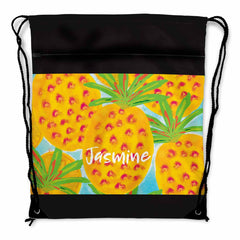 Pineapple Personalized Drawstring Bag