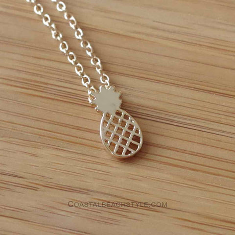 Pineapple Necklace - Gold or Silver Plated