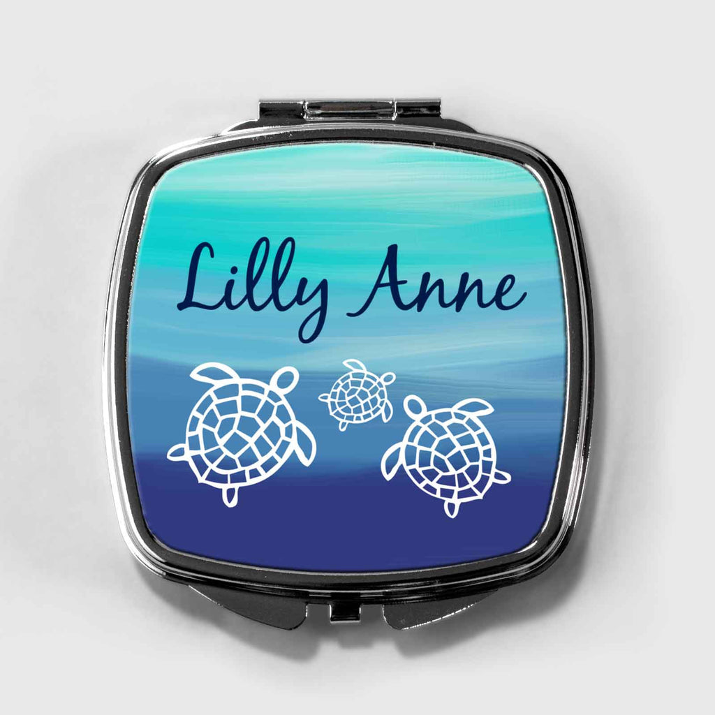 Honu Sea Turtles Personalized Compact Mirror