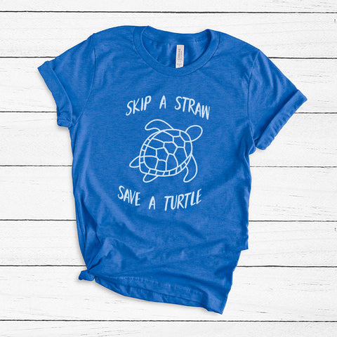 Skip a Straw Save A Sea Turtle Conservancy T Shirt