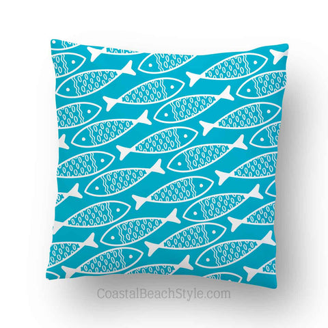 Fish Pattern Outdoor Throw PIllow
