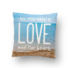 All You Need Is Love and The Beach Throw Pillow