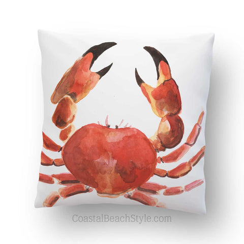 Red Crab Outdoor Throw Pillow
