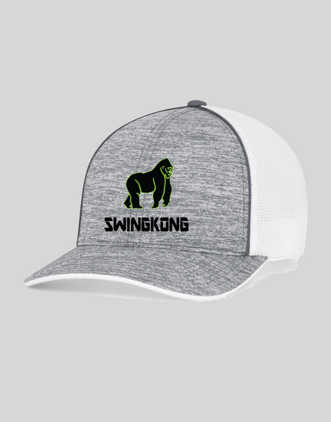 SwingKong White Noise Fitted Trucker Hat