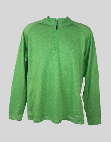 SwingKong Green Space Dyed Quarter Zip