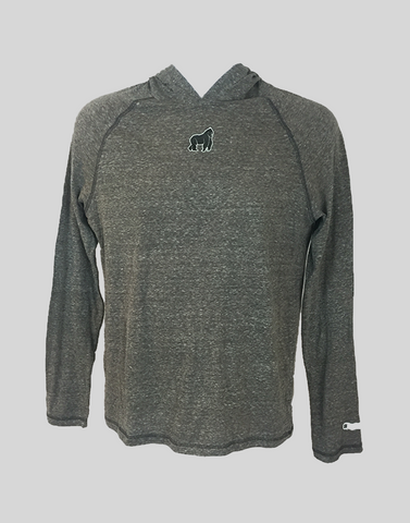 SwingKong Grey Hooded Long Sleeve T