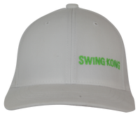 SwingKong Performance Flexfit Hat - Wht/Grn