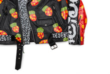 Born Of An Immigrant Strawberry Fields Moto Leather Jacket 2.0