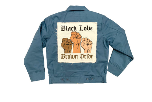 BLACK LOVE BROWN PRIDE WORK JACKET