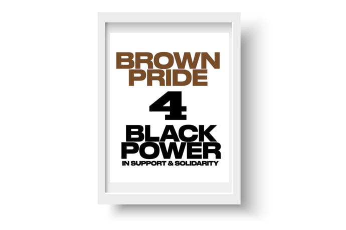 Brown Pride 4 Black Power Print