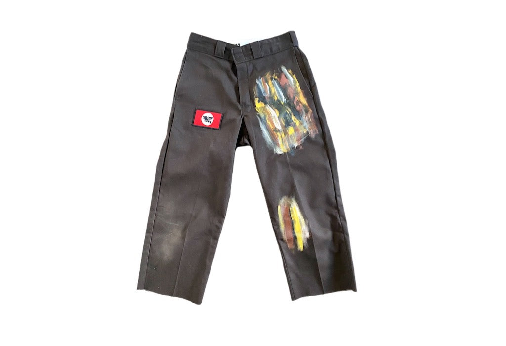 PANTHER FARMER HAND PAINTED PANTS