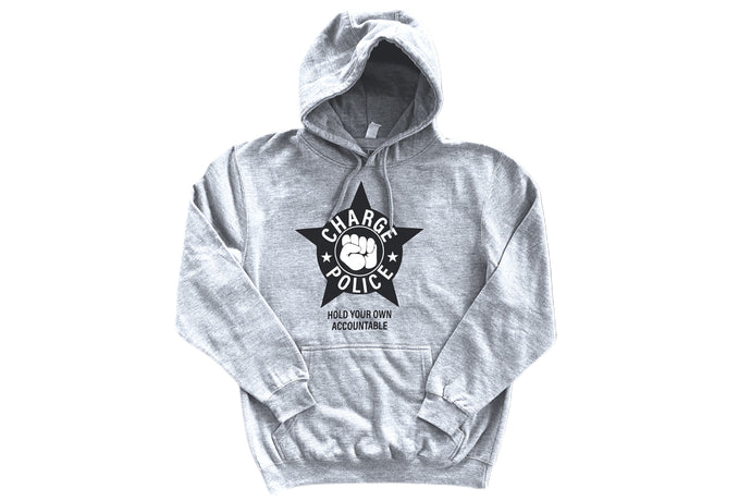 CHARGE POLICE GREY HOODY