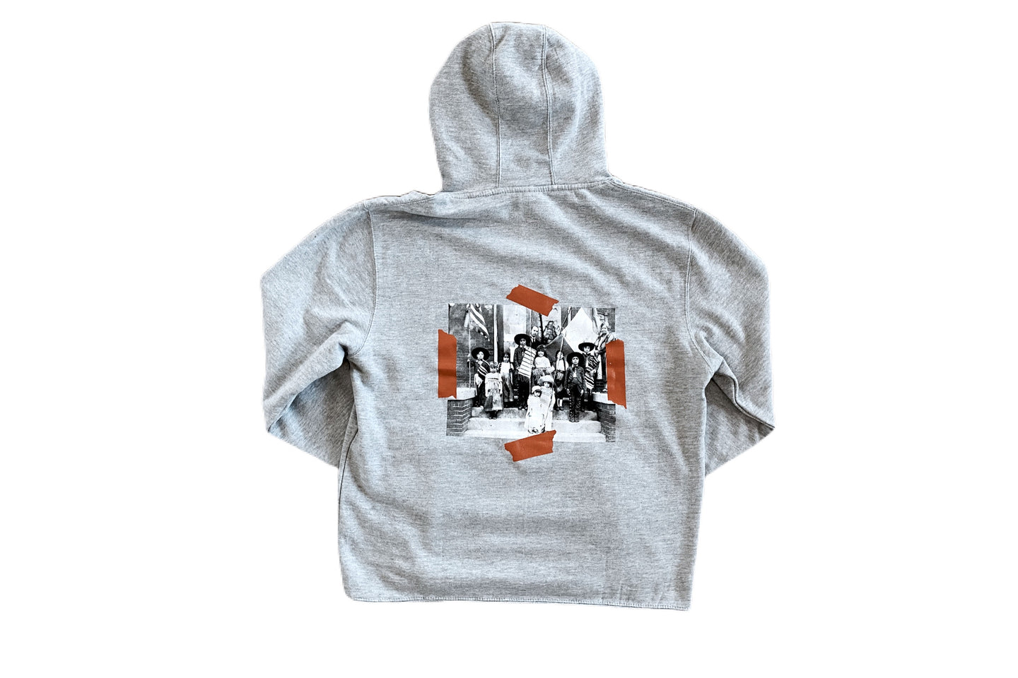 Born Of An Immigrant Grey Hooded Sweater