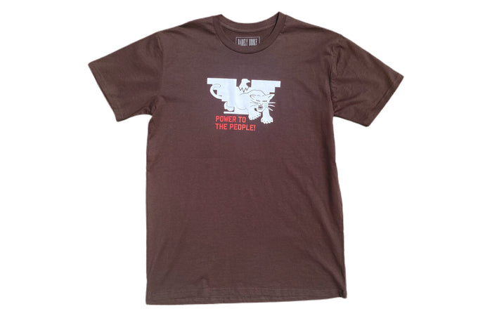 Power To The People Brown T-Shirt