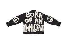 BORN OF AN IMMIGRANT PAINTED WORK JACKET