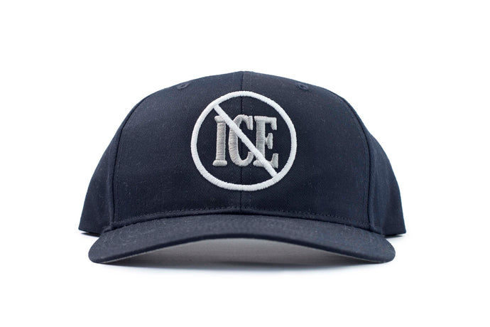 NO ICE SNAPBACK NAVY HAT