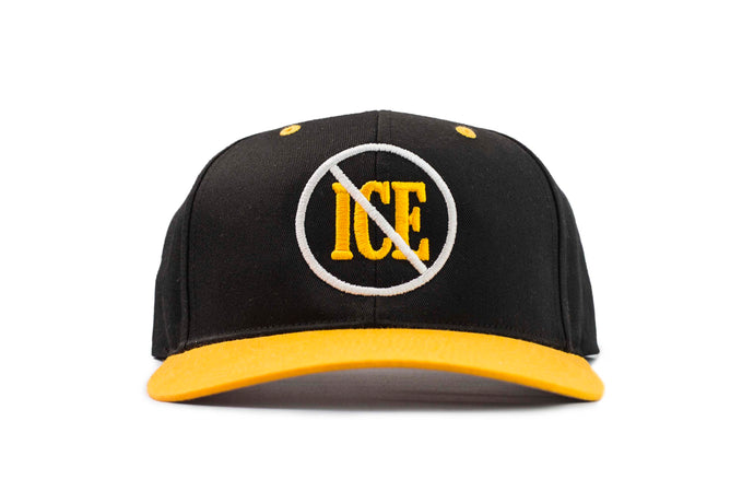 NO ICE SNAPBACK BLK/YLW HAT