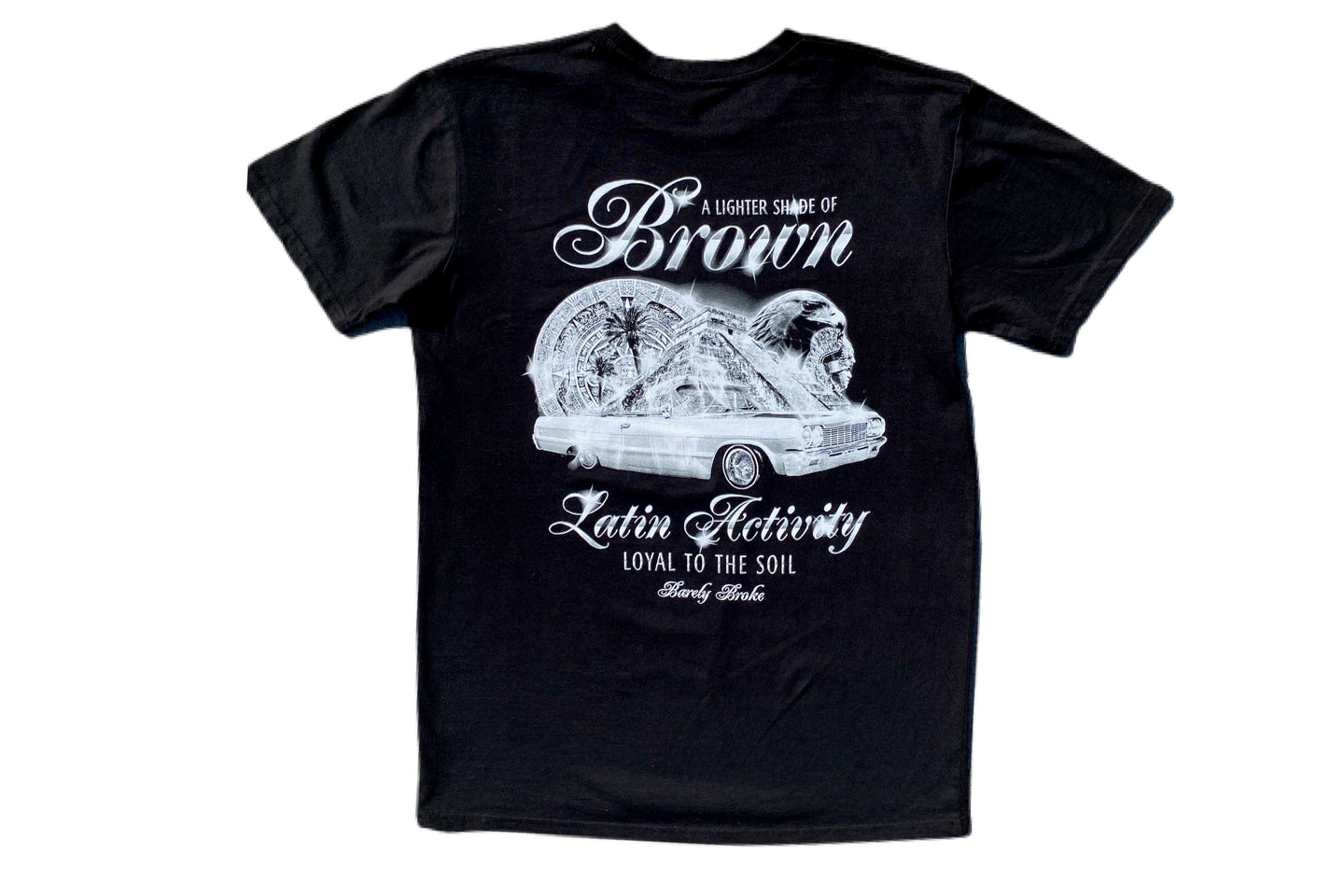 Lighter Shade Of Brown x Barely Broke Black Latin Activity Tee