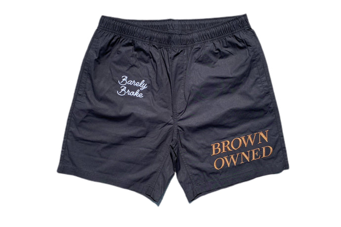 Brown Owned Beach Shorts
