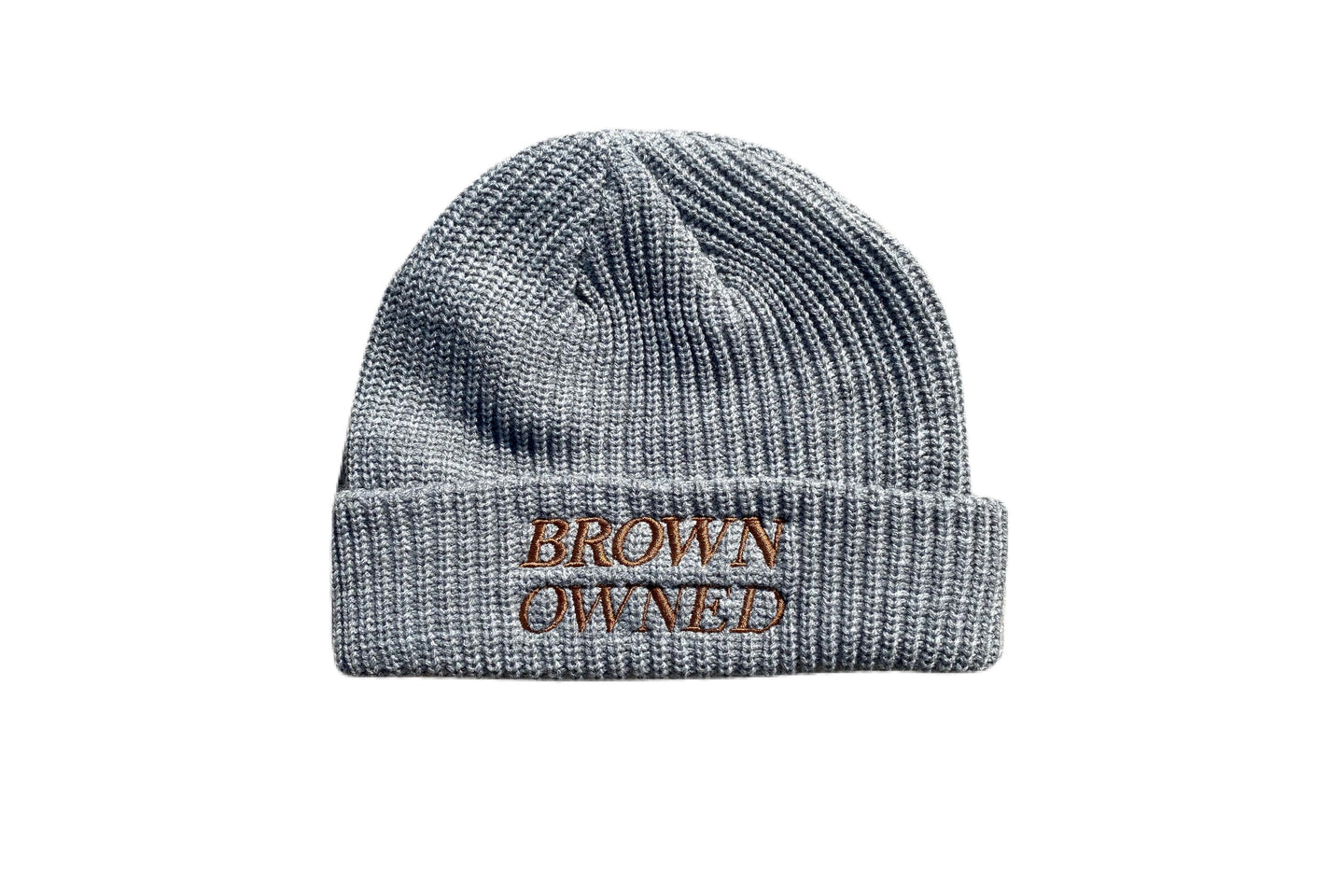 Brown Owned Grey Beanie