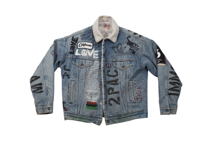 LIFE AND TIMES HAND PAINTED DENIM JACKET
