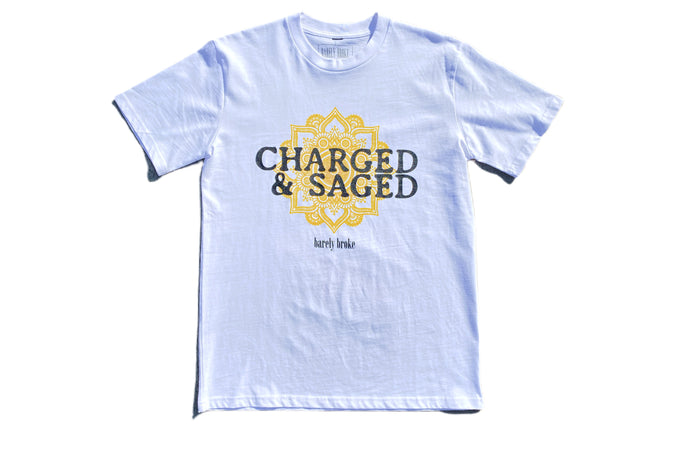 Charged & Saged White Tee ( Palalma Collaboration )