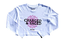 Charged & Saged L/S Womens White Crop ( In Collaboration With Palalma )