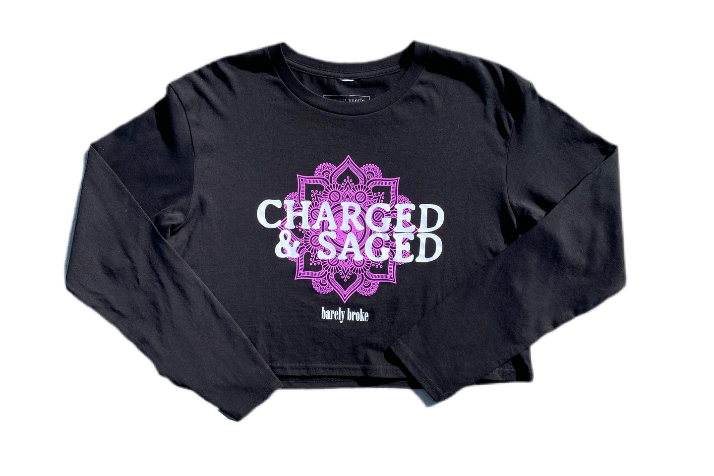 Charged & Saged L/S Womens Blk Crop ( In Collaboration With Palalma )