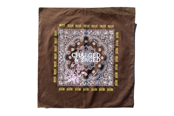 Charged And Saged Brown Bandana Crown ( Palalma Collaboration )