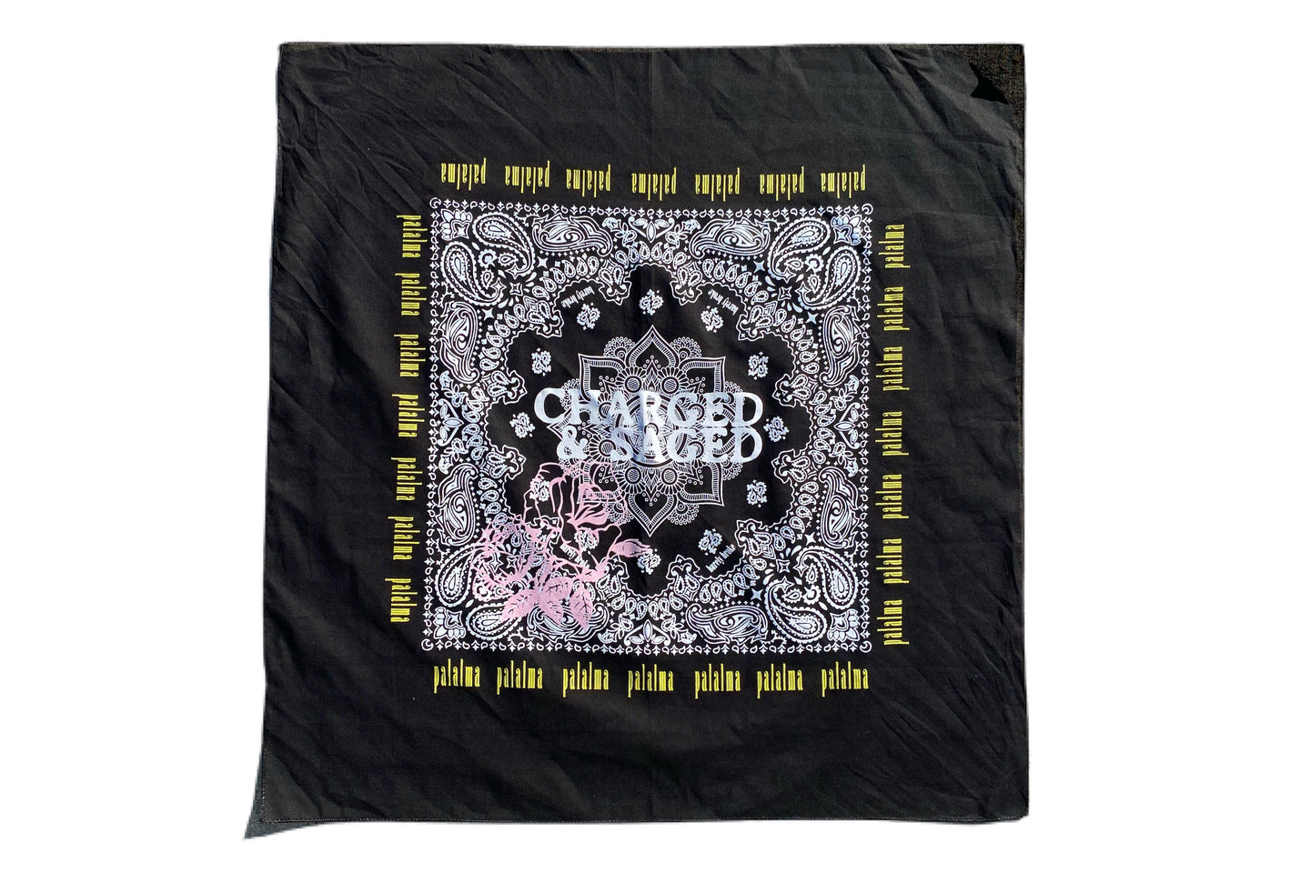 Charged And Saged Black Bandana Crown ( Palalma Collaboration )