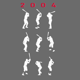 2004 Game 7 Batting Stances - Unisex T-shirt - Pick & Shovel Wear